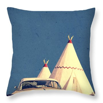 Eat And Sleep In A Wigwam Throw Pillow by Edward Fielding