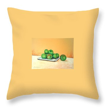 Eat Green Throw Pillow