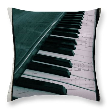 Eat Sleep Play Piano Throw Pillow by Dan Sproul