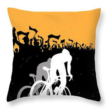 Eat Sleep Ride Repeat Throw Pillow by Sassan Filsoof
