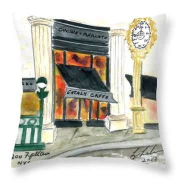 Eataly Throw Pillow