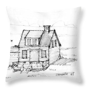 Eatons Residence Throw Pillow