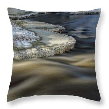Eau Claire Dells Park River Ice Throw Pillow