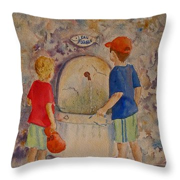 Eau Potable Throw Pillow