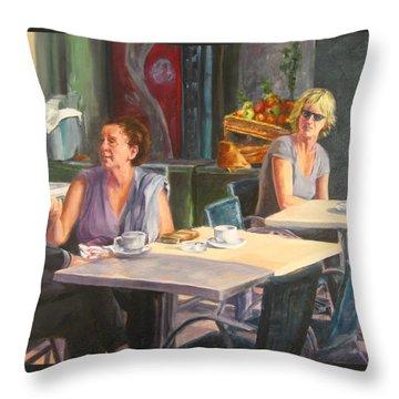 Eavesdropper Throw Pillow by Connie Schaertl