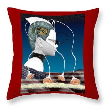 Eavesdropper Throw Pillow by Keith Dillon