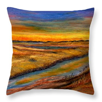 Ebbing Tide Throw Pillow