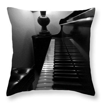 Ebony And Ivory Throw Pillow by Al Bourassa