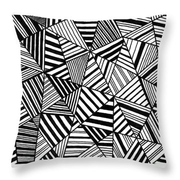 Throw Pillow featuring the painting Ebony And Ivory by Susie Weber