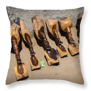 Ebony Carvings Throw Pillow