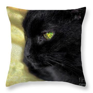 Ebony Throw Pillow by Dale   Ford