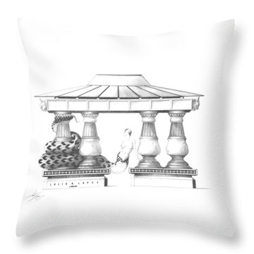 Echidna Throw Pillow by Julio Lopez