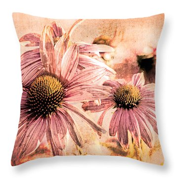 Echinacea Impressions  Throw Pillow by Bob Orsillo