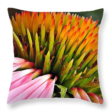 Echinacea In  Watercolors  Throw Pillow by Chris Berry