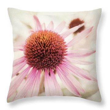 Echinacea Throw Pillow by Priska Wettstein