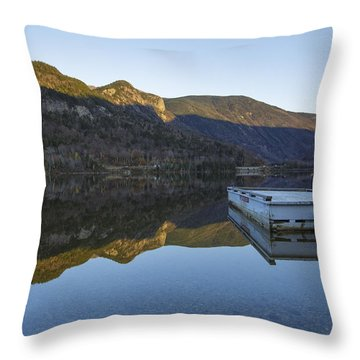Echo Lake - Franconia Notch State Park New Hampshire Usa Throw Pillow