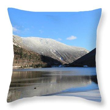 Echo Lake Franconia Notch Throw Pillow