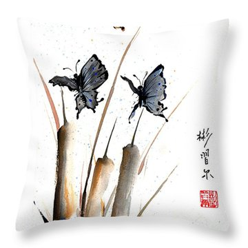 Echo Of Silence Throw Pillow by Bill Searle