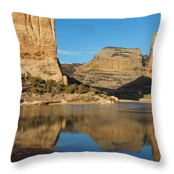 Echo Park In Dinosaur National Monument Throw Pillow