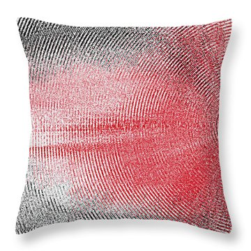 Throw Pillow featuring the painting Echo by Roz Abellera Art