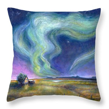 Echoes In The Sky Throw Pillow by Retta Stephenson