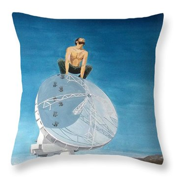 Throw Pillow featuring the painting Echoes by Lazaro Hurtado