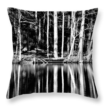 Echoing Trees Throw Pillow by Tara Potts