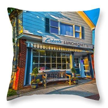 Eckarts Luncheonette Throw Pillow