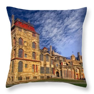 Eclectic Castle Throw Pillow by Susan Candelario
