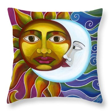 Throw Pillow featuring the painting Eclipse by Carla Bank