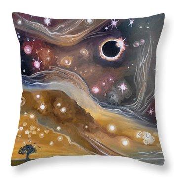 Eclipse Throw Pillow by Cedar Lee