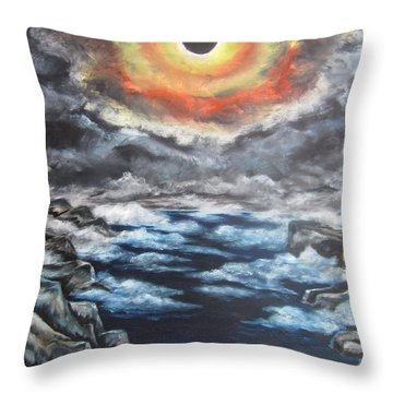 Throw Pillow featuring the painting Eclipse by Cheryl Pettigrew