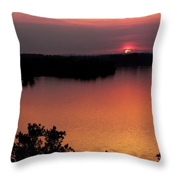 Throw Pillow featuring the photograph Eclipse Of The Sunset by Jason Politte