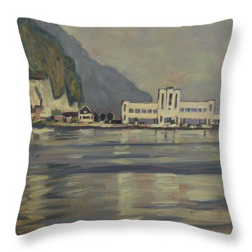 Throw Pillow featuring the painting Ecluse Chez Petit-lanay by Nop Briex