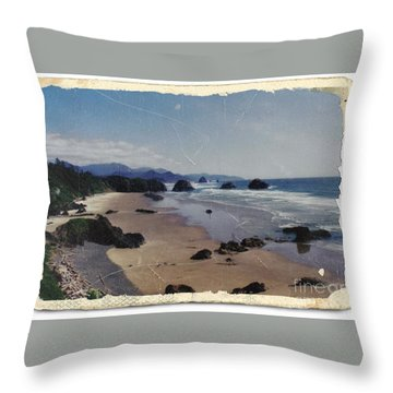 Ecola 1 Throw Pillow by Chalet Roome-Rigdon
