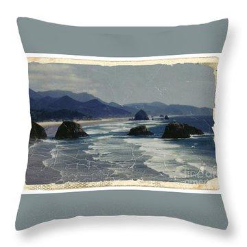 Ecola Sea Stacks Throw Pillow
