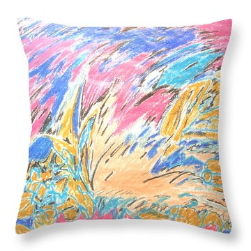 Throw Pillow featuring the painting Ecstasy by Esther Newman-Cohen
