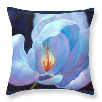 Throw Pillow featuring the painting Ecstasy by Sandi Whetzel