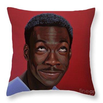 Eddie Murphy Painting Throw Pillow