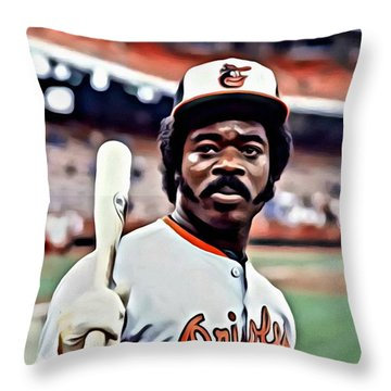 Eddie Murray Throw Pillow