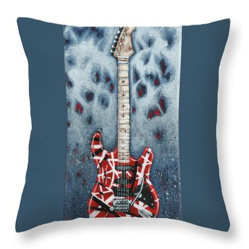 Eddie's Frankenstrat Throw Pillow