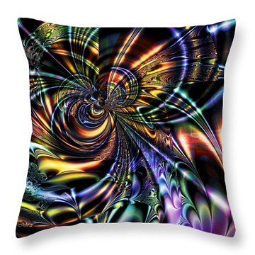 Eddies Throw Pillow