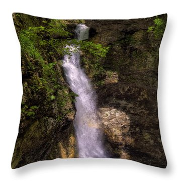 Eden Falls Lost Valley Buffalo National River Throw Pillow