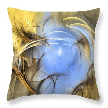 Eden - Abstract Art Throw Pillow