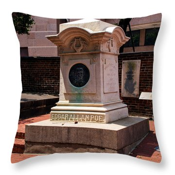 Edgar Allan Poe Tomb Throw Pillow