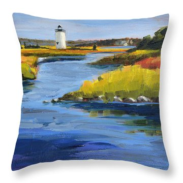 Edgartown Light Throw Pillow by Trina Teele