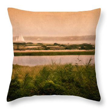 Edgartown Lighthouse Throw Pillow by Bill Wakeley