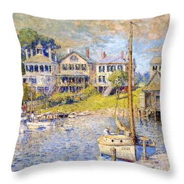 Edgartown  Martha's Vineyard Throw Pillow by Colin Campbell Cooper