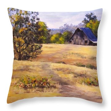 Edge Of Autumn Throw Pillow by Karen Ilari