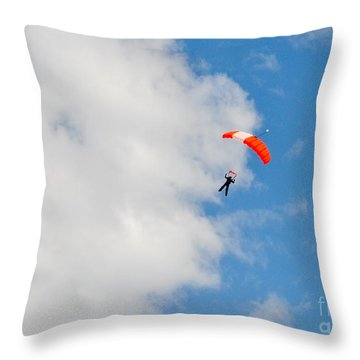 Edge Of The Clouds Throw Pillow